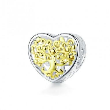 Tree of life Heart - Talisman argint