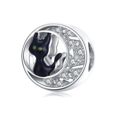 Black Cat - Talisman argint
