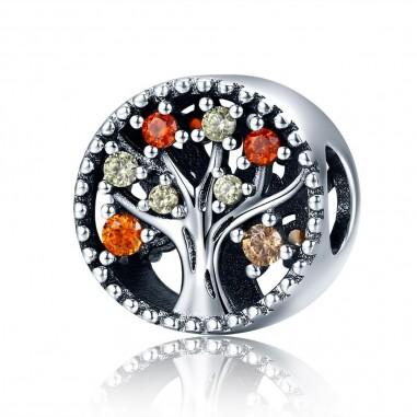 Autumn Tree of Life - Talisman argint