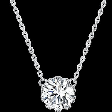 Single Diamond - Colier argint