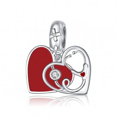 Heart Stethoscope - Talisman argint