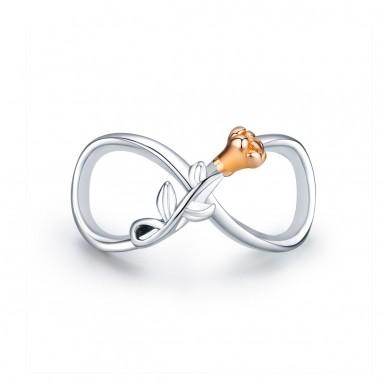 Infinity Love Rose - Talisman argint