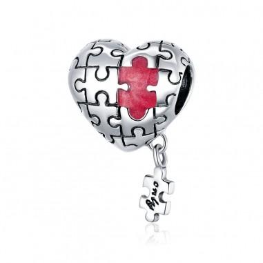Love Puzzle - Talisman argint