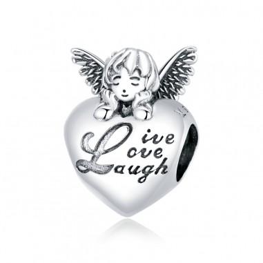 Heart Angel - Talisman argint