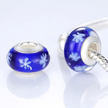 Murano Blue - Talisman argint
