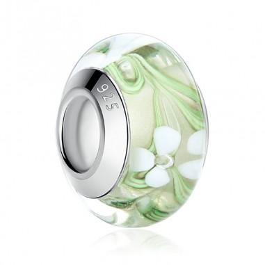Murano Green - Talisman argint