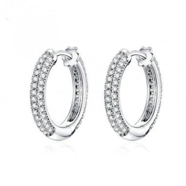 Luxury Hoop - Cercei argint