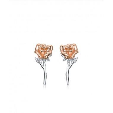 Graceful Rose - Cercei argint