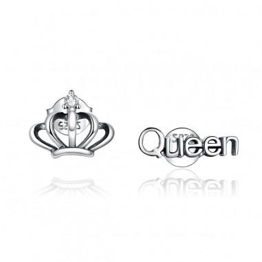 Crown & Queen - Cercei argint