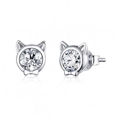 Cute Cat Bows - Cercei argint