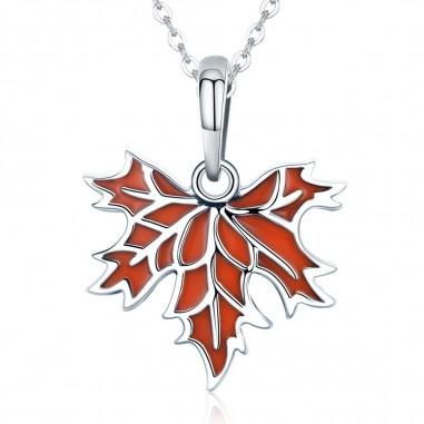 Autumn Maple Leaf - Talisman argint