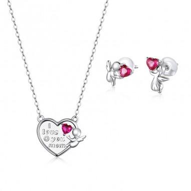 Love Angel - Set colier si cercei argint