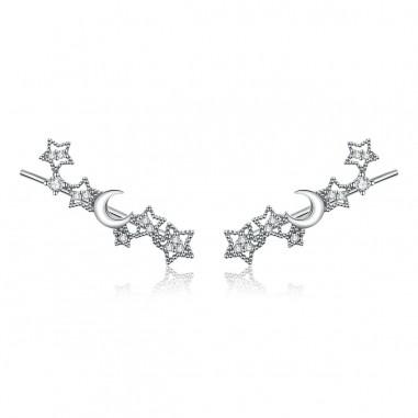Stars and Moon - Cercei argint