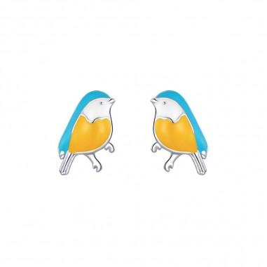 Winter Birds - Cercei argint