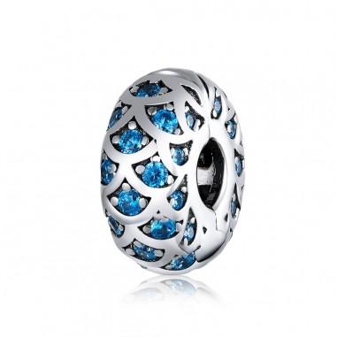 Elegant Blue - Talisman Clips Argint