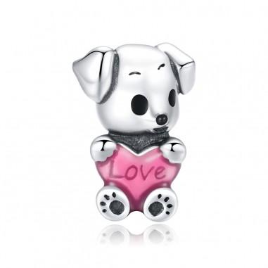 Cute Puppy - Talisman argint