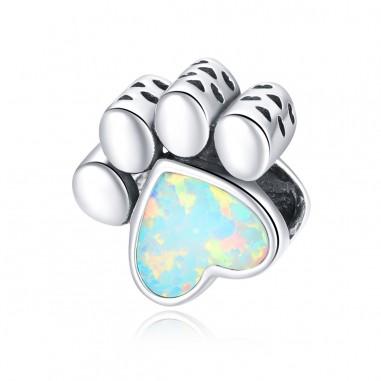Opal Paw - Talisman argint