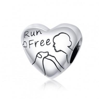 Run Free Heart - Talisman argint