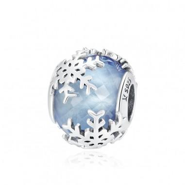Crystal Snowflake - Talisman argint Murano