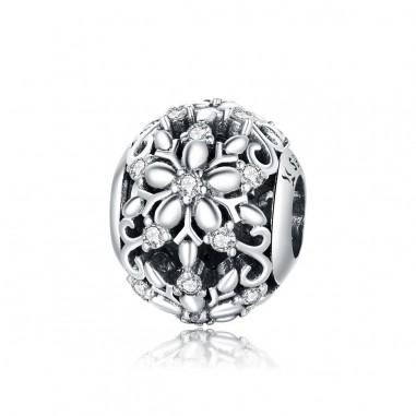 Carved snowflakes - Talisman argint