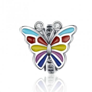 Colorful Butterfly - Distantier argint