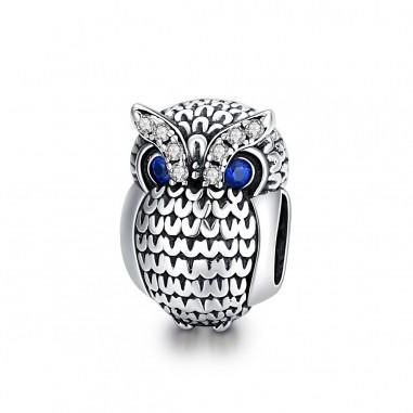 Shining Owl - Talisman argint