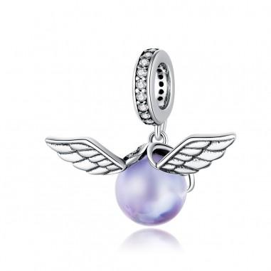 Purple Elf Ball - Talisman argint
