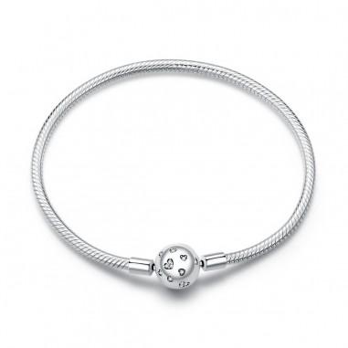 Lovely Hearts - Bratara talismane argint