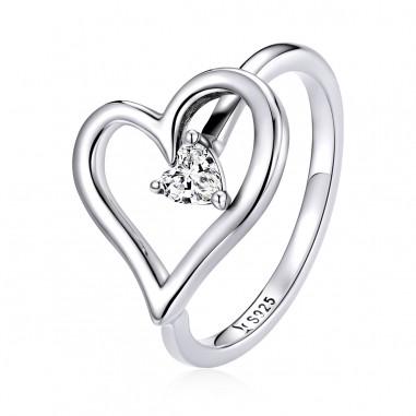 Shining Heart - Inel argint