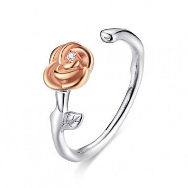 Elegant Rose - Inel argint reglabil