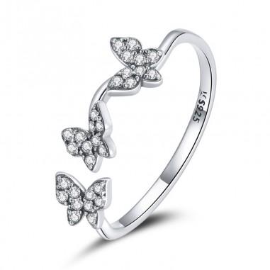 Silver Butterflies - Inel argint reglabil