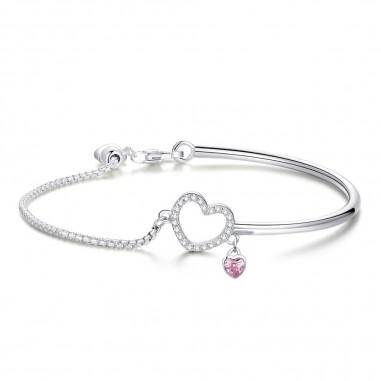 Romantic Heart - Bratara argint