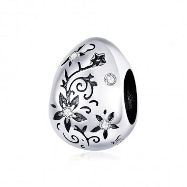 Retro Easter Egg - Talisman argint