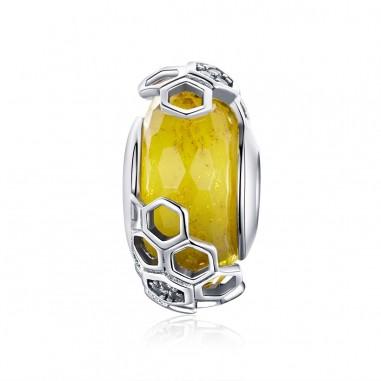 Honeycomb - Talisman argint Murano