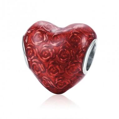 The Rose Heart - Talisman argint