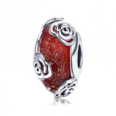 Rose Fragrance - Talisman argint Murano