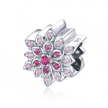 Pink Lotus - Talisman argint