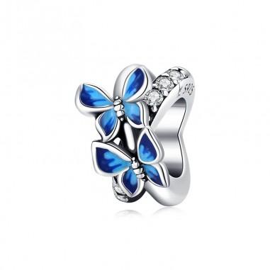 Blue Butterflies - Talisman argint