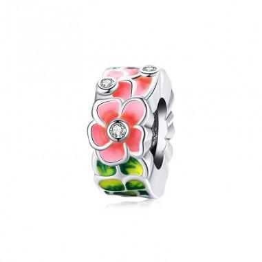 Colorful Flowers - Talisman argint