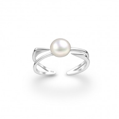 Beautiful Pearl - Inel argint reglabil