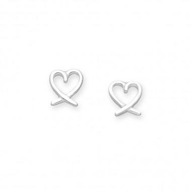 Lovely Hearts - Cercei argint