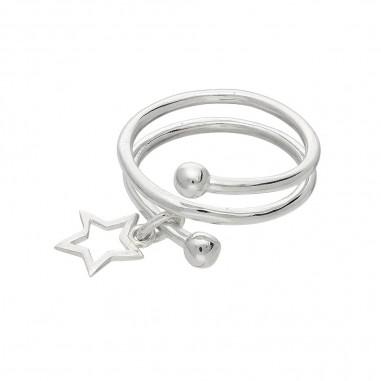 Lucky Star - Inel argint falanga