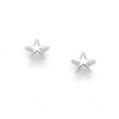Simple Stars - Cercei argint