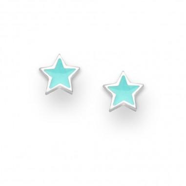 Turquoise Stars - Cercei argint
