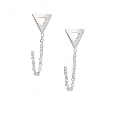 Lovely Triangle - Cercei argint