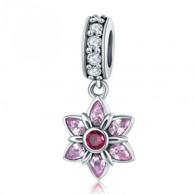 Pink Spring Flower - Talisman argint