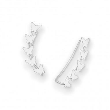 Silver Butterflies - Cercei argint