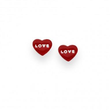 Red Love - Cercei argint