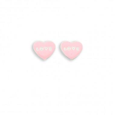 Pink Love - Cercei argint
