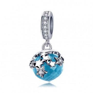 Blue Starlight - Talisman argint